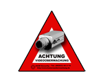 Schild Video�berwachung